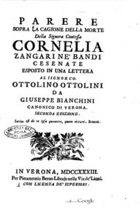 Countess Cornelia Bandi's last day